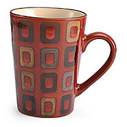 Pfaltzgraff Everyday Geometric Red Mug - Kitchen Things
