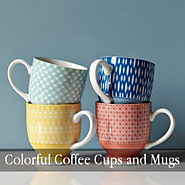 Colorful Coffee Cups and Mugs