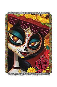 The Northwest Company DreamWorks Book of Life La Muerte Tapestry Throw, 48-Inch by 60-Inch