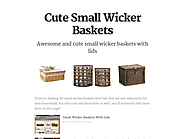 Cute Small Wicker Baskets