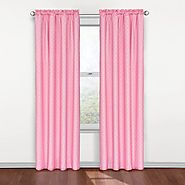 "Eclipse Kids Polka Dots Blackout Window Curtain Panel, Pink, 42""x84"""
