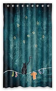 Star Print Thermal Insulated Blackout Curtain Set for Kids' Room (50''x84'')
