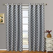 Pair of Two Top Grommet Blackout Thermal Insulated Curtain Panels, Triple-Pass Foam Back Layer, Elegant and Contempor...
