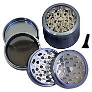 "SharpStone® Clear Top 4 Piece Grinder - 2.5"" Blue"