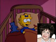 "Guest star Elizabeth Taylor voiced Maggie's first word- ""Daddy."""