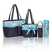 Best Designer Tote Style Baby Diaper Bag with Changing Pad and Organizer for Boys or Girls - Stylish Enough for Mom o...