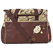 Fisher-Price Brown Monkey Applique Diaper Bag