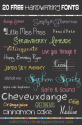 20 Free Handwriting Fonts - Remaking June Cleaver