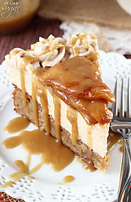 Caramel Apple Blondie Cheesecake - Life Love and Sugar