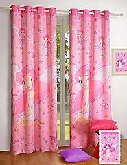 "Fairy Window Curtains - Set of 2 Curtain Panels for a Baby Nursery or Toddler or Kids Bedroom - 48"" x 60"" panels - Bl..."