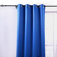 Deconovo Thermal Blackout Grommet Window Curtain Panel For Nursery Room 52 Inch By 63 Inch,Royal Blue