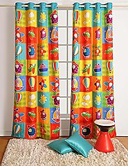 "Aero Plane Print Door Curtains - Set of 2 Curtain Panels for a Baby Nursery or Toddler or Kids Bedroom - 48"" x 84"" pa..."