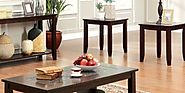 Solid Wood Coffee Table And End Table Sets
