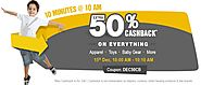 10 Minutes @ 10 AM - Flat 50% Cashback on Everything - FirstCry