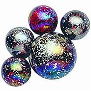Tin Space Marbles
