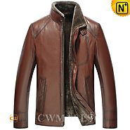 Amsterdam Brown Shearling Lambskin Jacket CW858103