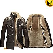 London Mens Quilted Shearling Jacket CW857018