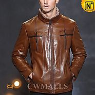 Glasgow Brown Shearling Lined Jackets CW857055