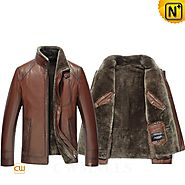 Houston Mens Brown Shearling Jacket CW858103