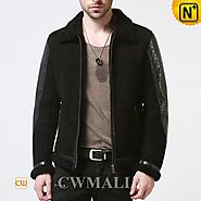Houston Black Shearling Biker Jacket CW861234