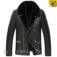 Iowa Mens Shearling Bomber Jacket CW857236