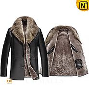 Kentucky Fur Collar Shearling Jacket CW858039