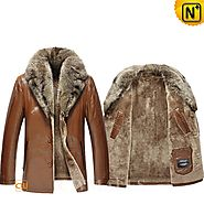 Oslo Brown Fur Leather Jackets CW858033