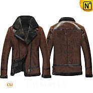 Berlin Mens Shearling Flight Jacket CW861276