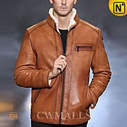 Wyoming Fur Fleece Leather Jacket CW857070