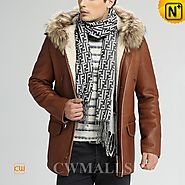 Hamburg Shearling Jacket with Hood CW858350