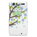 Blaue windige Baum-Eule Droid RAZR Cover von Zazzle.de