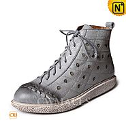 CWMALLS® Womens Leather Ankle Boots CW305326