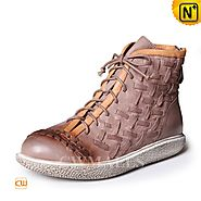CWMALLS® Woven Leather Ankle Boots CW305323
