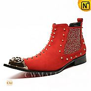 CWMALLS® Designer Studded Ankle Boots CW707206