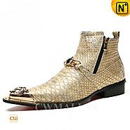 CWMALLS® Designer Embossed Pointed-toe Boots CW707208