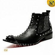 CWMALLS® Designer Studded Ankle Boots CW707205