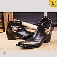 CWMALLS® Designer Brushed Leather Boots CW750122