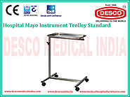 Mayo Stainless Steel Instrument Trolley Manufacturers India