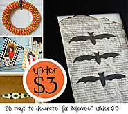 Under $3 - 20 ways to decorate for Halloween for under $3! | How Does She