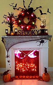 Spooky Fireplace for Halloween!