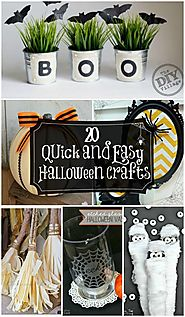 20 Quick And Easy Halloween Crafts