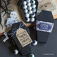 DIY Paper Coffin for Halloween - Lia Griffith
