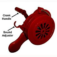 Manual operated Hand Crank Alarm Siren