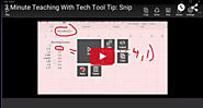 "A New ""3 Minute Teaching With Tech Tutorial"" Introducing Microsoft's Compelling New SNIP Tool! — Emerging Education T..."