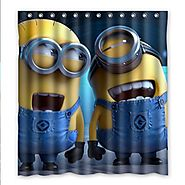 Laughing Minions Shower Curtain