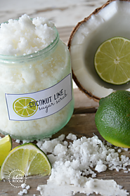 Coconut Lime Sugar Scrub - The Idea Room