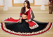 Wearing Indian Lehenga Choli Set!