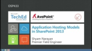 Application Hosting Models in SharePoint 2013