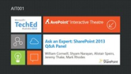 Ask an Expert: SharePoint 2013 Q&A Panel (Channel 9)