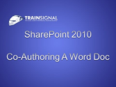 Co-Authoring a Word Document